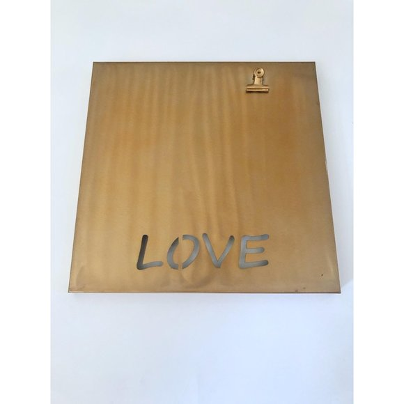 """""""LOVE"""" Wall Hanging w/ Photo Clip"""